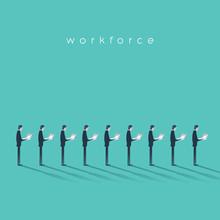 Business Workforce Vector Illu...