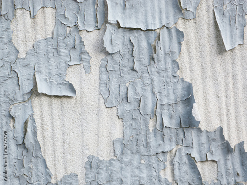 Gray Paint Peeling off vertically textured white concrete wall Buy