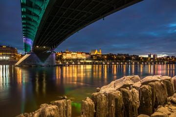 Fototapeta Royal Castle and Vistula river in Warsaw, Poland