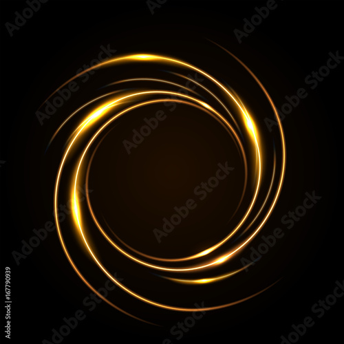 Round yellow light twisted, Suitable for product advertising, product design, and other Wallpaper Mural
