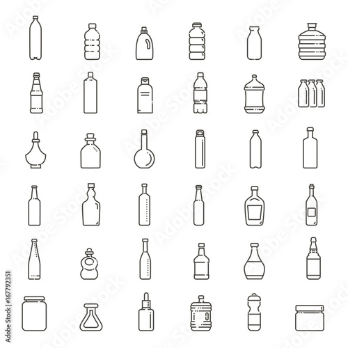 Foto  Bottle, packaging collection - vector