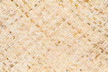 Light Brown Weaved Bamboo Mat Texture For Background