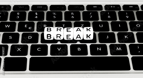 Break Symbol On Keyboard Buy This Stock Photo And Explore Similar