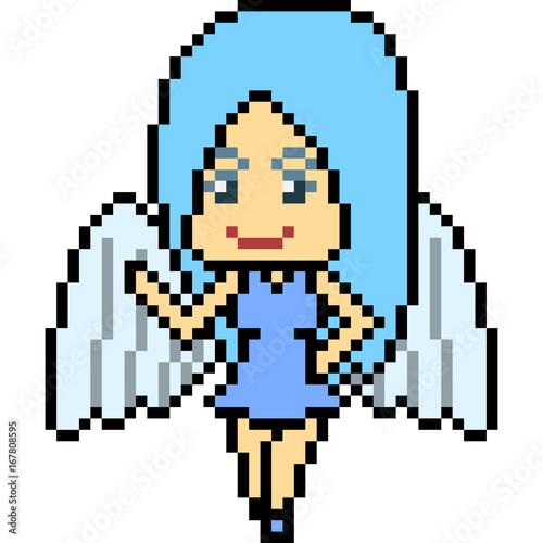 Vector Pixel Art Angel Buy This Stock Vector And Explore