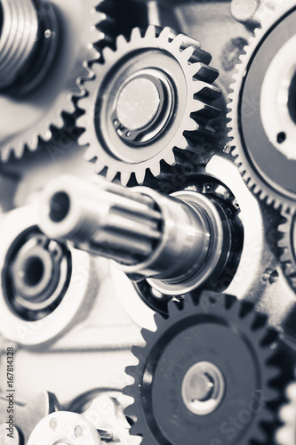 Fototapety, obrazy: engine gear wheels, industrial background