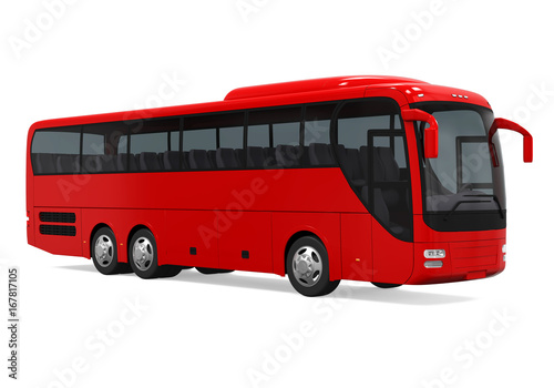 Photo  Coach Bus Isolated