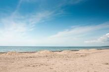 The Empty Sandy Beach