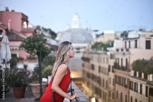 Photo Tourist on the terrace