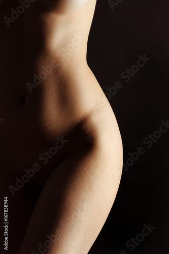 Sexy body nude woman. Naked sensual beautiful girl