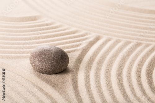 Fotobehang Zen Stone on sand.