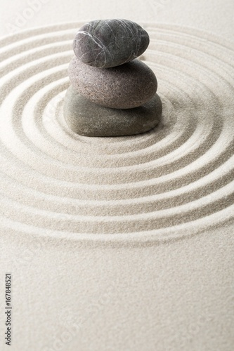Tuinposter Stenen in het Zand Zen.