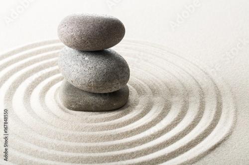 Photo Stands Stones in Sand Zen.