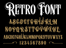 Vector Retro Alphabet. Vintage...