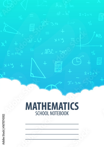 Mathematics School Notebook Template Back To School Background Education Banner Buy This Stock Vector And Explore Similar Vectors At Adobe Stock Adobe Stock
