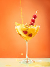 Fresh Raspberry Coctail On The...