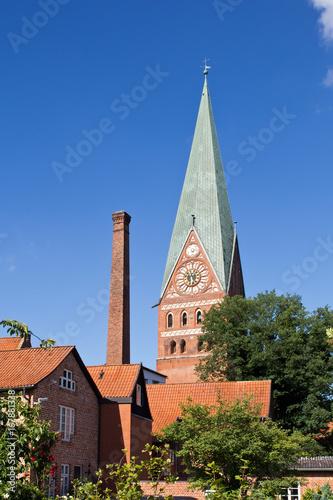 Papiers peints Les vieux bâtiments abandonnés Lüneburg, St. Johannis Kirche