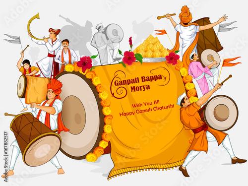 фотография Lord Ganpati for Happy Ganesh Chaturthi festival celebration of India