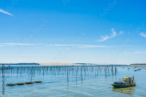 Photo LA DUNE DU PYLA (Bassin d'Arcachon, France) vue depuis le Cap Ferret