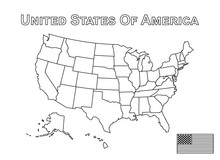 Vector Of USA Map And American...