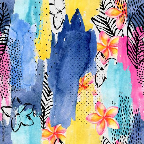 abstrakcyjny-kolorowy-wzor-z-kwiatami-w-stylu-akwareli