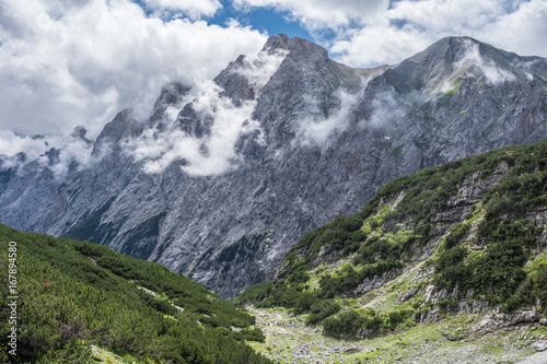 The mountains of Alps in Bavaria, Germany. #167894580
