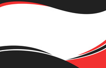 Black And Red Curve Shapes Background