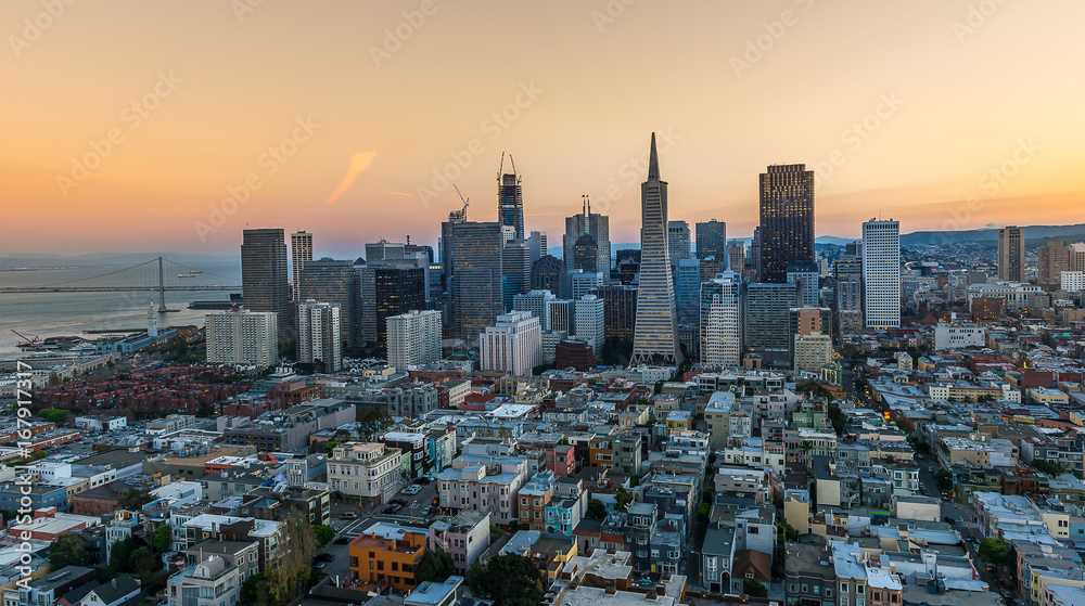 Fototapety, obrazy: Aerial View Downtown San Francisco