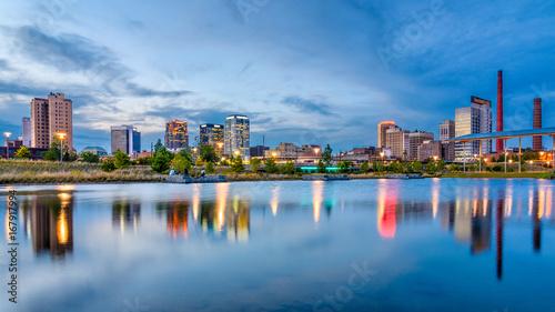 Birmingham, Alabama, USA downtown city skyline. Wallpaper Mural