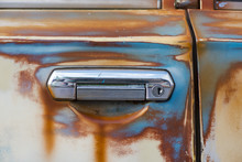 Close-up Detail Of An Old Car ...