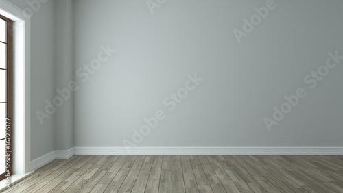 Fototapeta empty room interior background with window obraz na płótnie