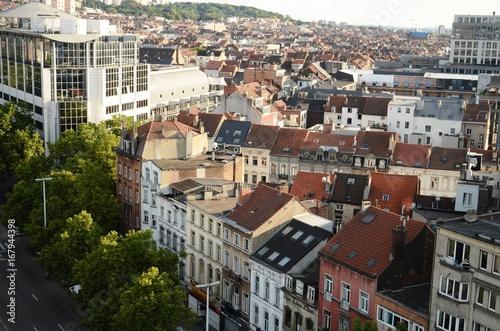 Foto op Canvas Brussel Vues de Bruxelles-Ville depuis la grande-roue de la Foire du Midi (Belgique)