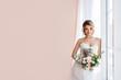 canvas print picture - Fashion portrait of a beautiful bride