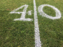 A Forty Yard Line Painted On A...