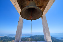 An Old Historic Bell Hanging A...