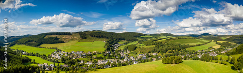 Canvas Prints Pale violet Luftpanorama Sauerland