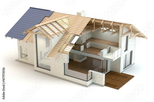 Obraz House structure - fototapety do salonu
