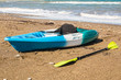 kayak on the tropical beach. Active water sport concept