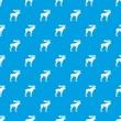 Moose pattern seamless blue