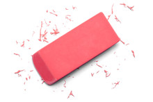 Eraser Pink Erasing Top View