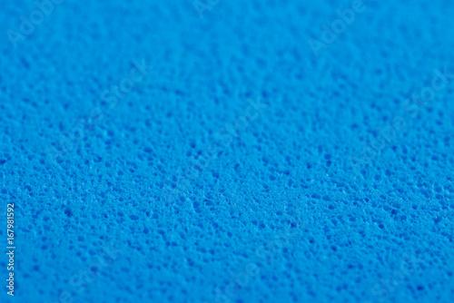 Fotografie, Obraz  Blauer Schaumstoff Schwamm Hintergrund