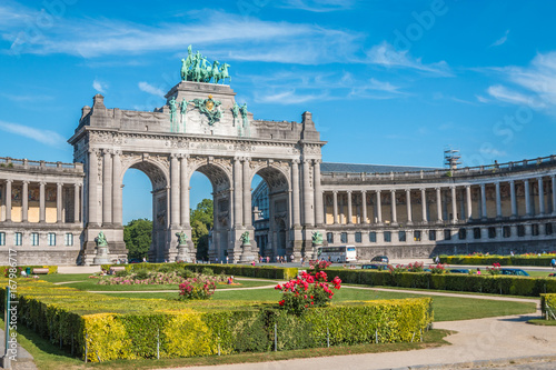 The Cinquantinaire arch in Brussels Belgium