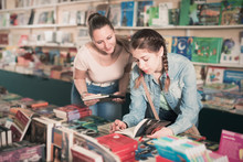 Family In Book Shop
