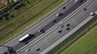 Aerial view of car traffic on highway