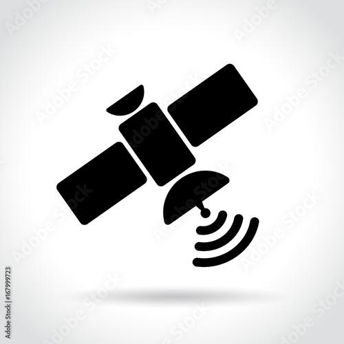 Photo  satellite icon on white background