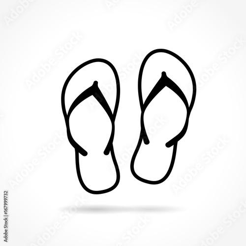 flip flop icon on white background