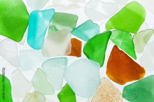 Fényképezés  seaglass stones background