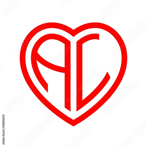 Initial Letters Logo Al Red Monogram Heart Love Shape Buy This Stock Vector And Explore Similar Vectors At Adobe Stock Adobe Stock