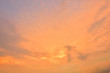 The sky with clouds beatiful Sunset background
