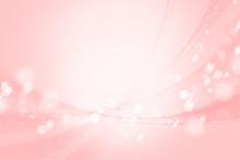 ピンクのボケ 光と曲線 背景