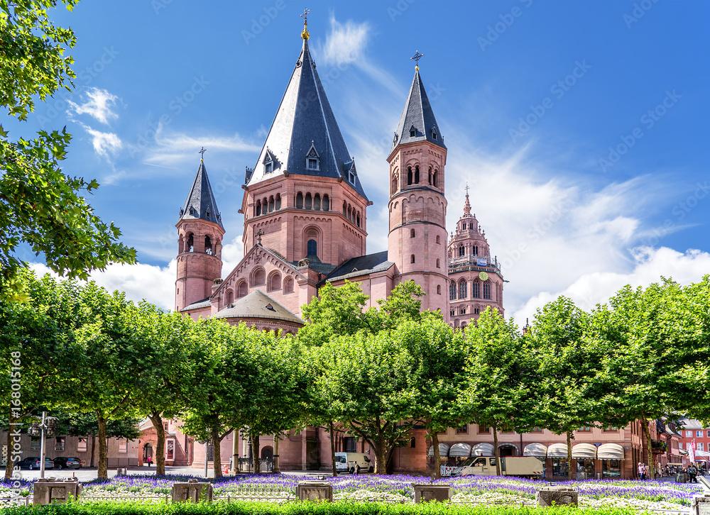 Fototapety, obrazy: Sankt Martin Dom Mainz Bischofskirche Architektur